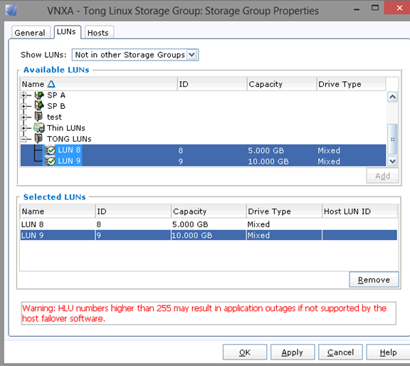 Configuring Linux Host connecting to VNX iSCSI LUNs with